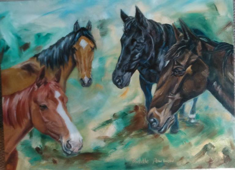 Equine Artist, Georgie McBurney, Somerset, Dorset