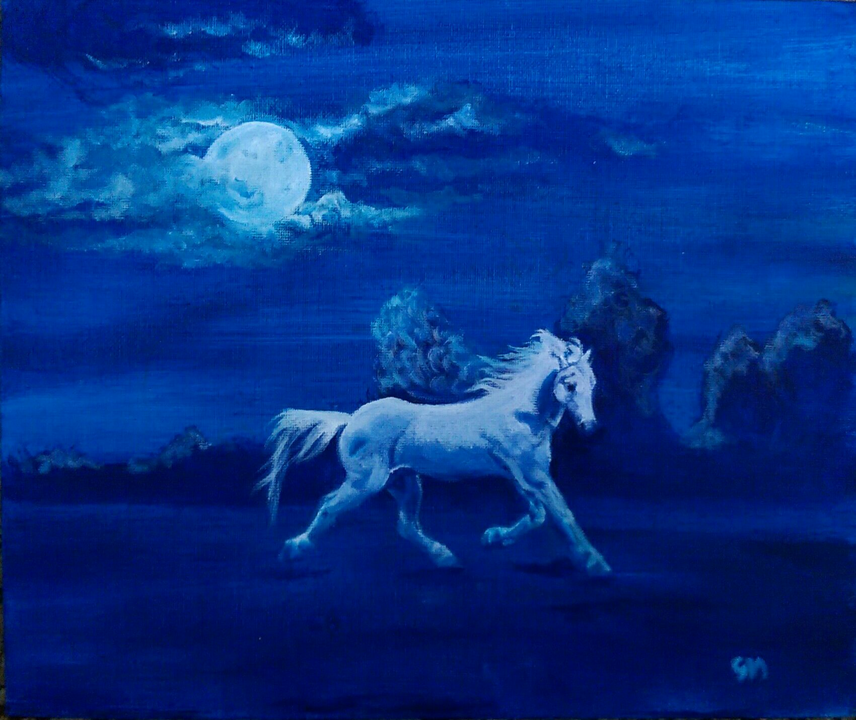 Equine, Art, Pegasus, Unicorn