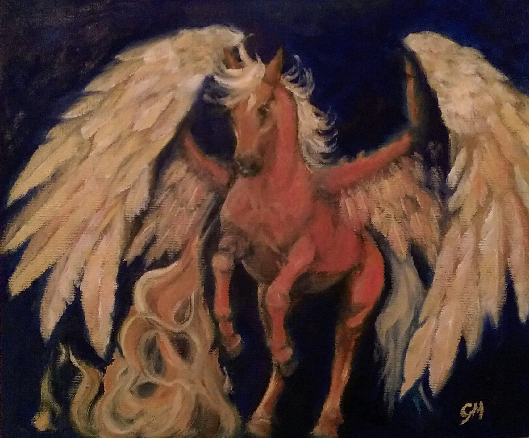 Art, Pegasus, Equine, Artist. Georgie McBurney