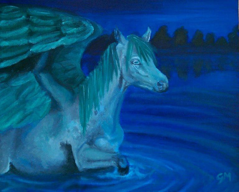 Horse, Pegasus, Elemental, Water, Artist, Georgie McBurney