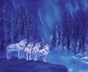 Artwey, Paintings, Wolves, horses, pegasus, Engine Room, Dorchester