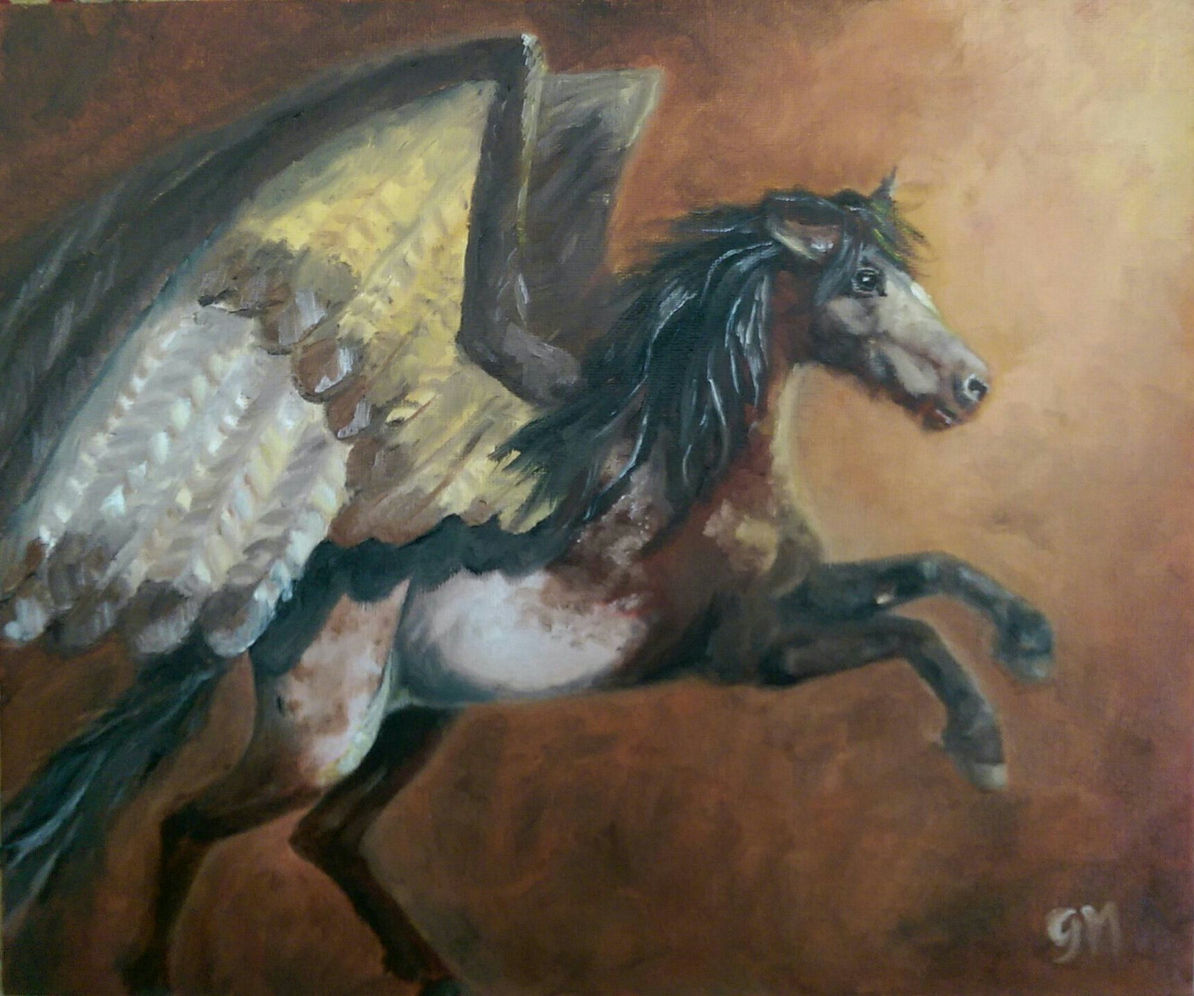 Art, Horse, Pegasus, Fantasy