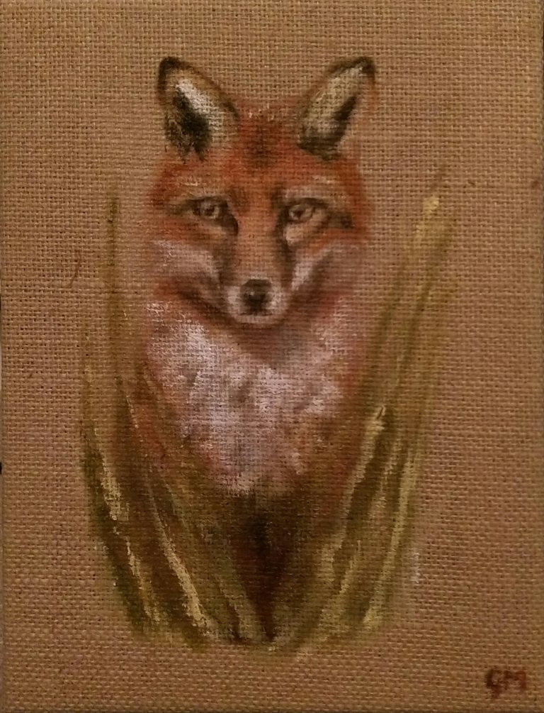 Fox, Wildlife, British, Art, Animals.
