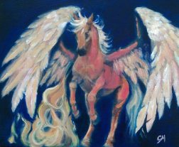 The Fire Horse; Elemental Horse Series. (A4) Oils on Canvas Board. Unframed.