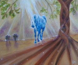 The Tree of Life. (A4) Oils on Canvas Board. Unframed. 20% goes to Ash Tree Project at Equine Earth.