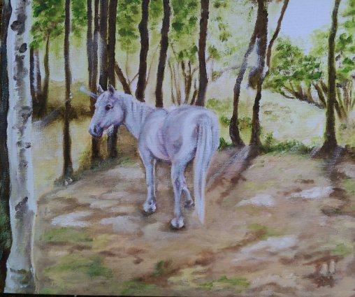 Woodland Secrets (A4) Oils on Canvas Board. Unframed.